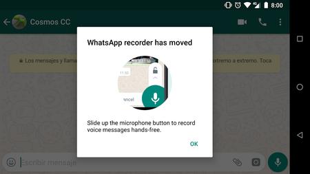 La Grabadora de WhatsApp desaparece, ha sido reemplazada por las notas de voz