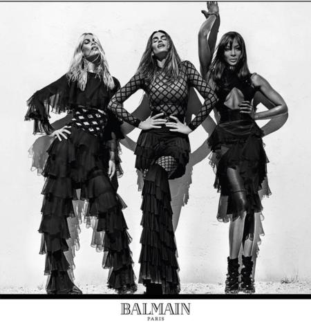 Naomi Campbell, Claudia Schiffer y Cindy Crawford quitan el hipo en la nueva campaña de Balmain