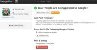TwooglePlus, publica tus actualizaciones de Twitter en Google +