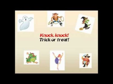 """Knock, knock, trick or treat"", una divertida canción de Halloween"