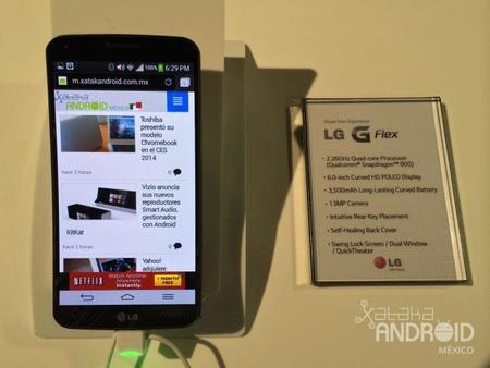 LG G Flex CES 2014 Xataka Android México