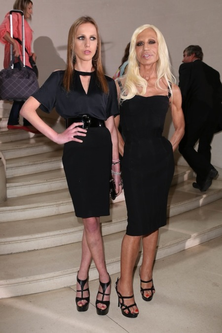 dDonatella Versace and Allegra Versace