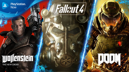 Fallout 4, DOOM, Wolfenstein: The New Order y siete juegos más se unirán a PS Now en agosto