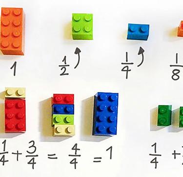 Cómo enseñar matemáticas a los niños con bloques de Lego de manera divertida