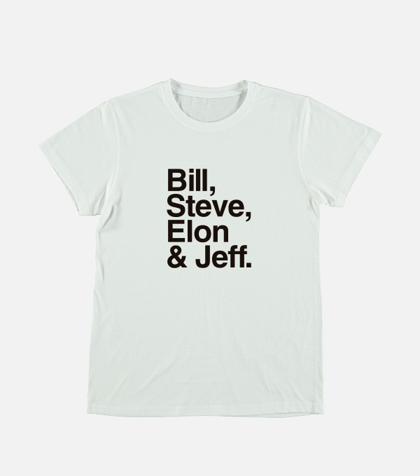 Camiseta Bill, Steve, Elon & Jeff by Xataka
