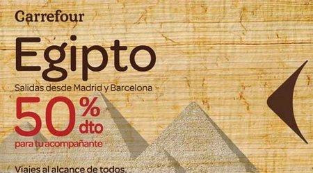 Viajes Carrefour: Egipto al 50%
