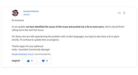 Error Solucionado Google Assistant