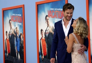 Los hermanos Hemsworth en la premiere de 'Vacation': ¡de toma pan y moja!