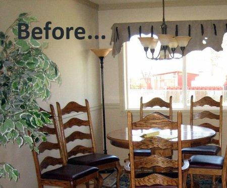 Antes y después: un salón que pasa al blanco