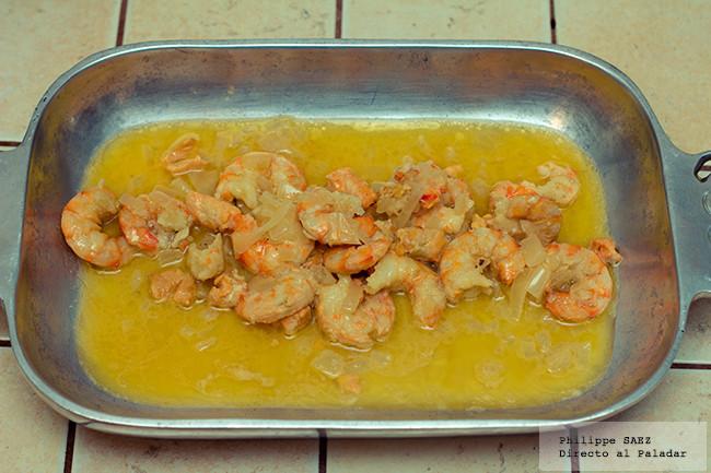 Baño Blanco De Azucar Receta:Camarones en salsa de mantequilla y vino blanco Receta