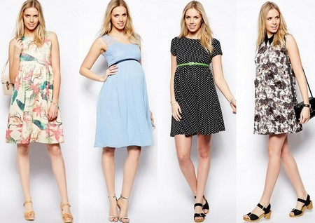 e99cadc93 Moda embarazadas Primavera Verano 2014  vestidos de fiesta con ...