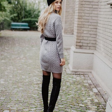 Vestido De Punto Ajustado