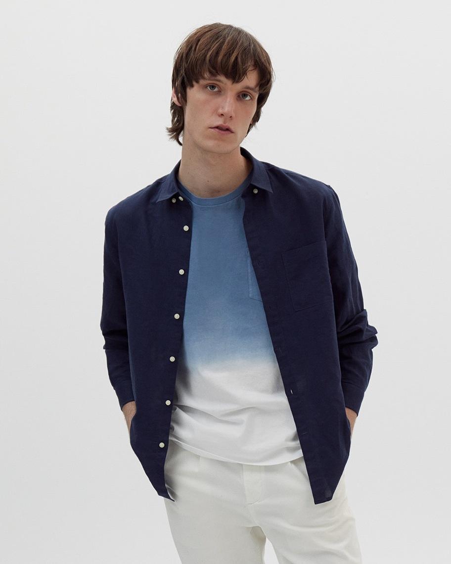 Camiseta motivo tie-dye azul