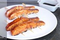 Receta de salmón yakitori