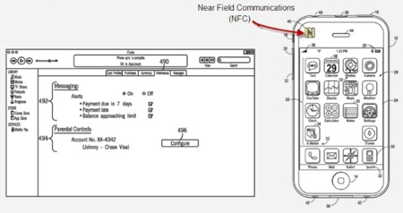 Apple patenta un sistema NFC para el iPhone