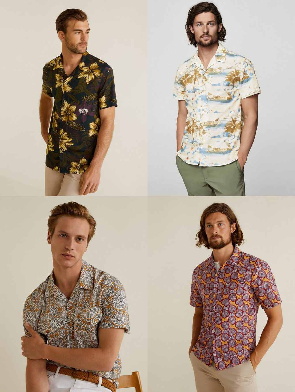 Mango Man Camisas Estampasdos Otono Fall Winter 2018 Trendencias Hombre