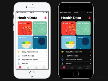 Ios 11 Concept Dark Health App