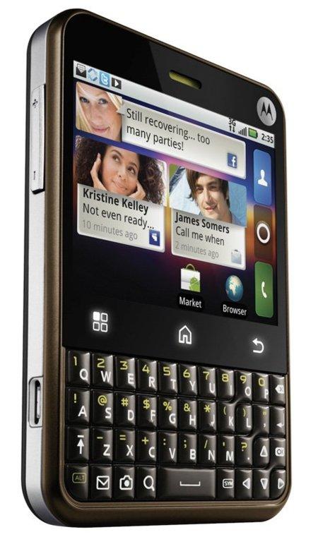 Motorola Charm, un Android con teclado QWERTY y touchpad tras la pantalla