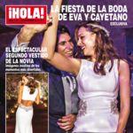 Sobrio por delante, sexy por detrás: así es el segundo vestido de novia de Eva González