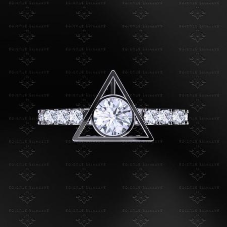 Harry Potter 0 70ct Diamond White Gold Ring 21