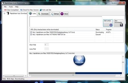 Rapidshare Auto Downloader, otro gestor de descargas para Rapidshare