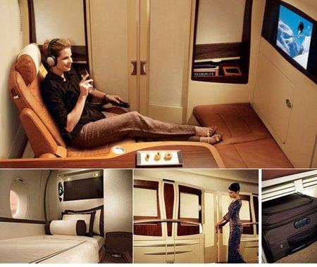 La Singapore Suite en el Airbus A380
