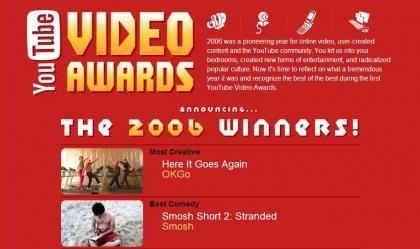 YouTube entrega sus primeros premios