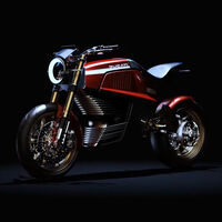Así sería la primera moto eléctrica de Ducati según este diseño de Italdesign inspirado en la clásica Ducati 860 GT