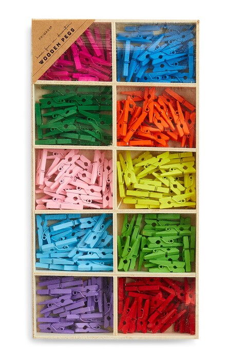 Multicoloured Crafting Wooden Pegs Gbp3 50 Eur4