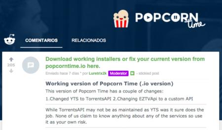 Popcorn Time Vuelve Reddit 181115