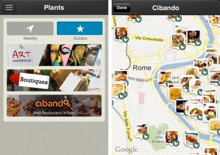 CircleMe incluye las Plant Guides, guías curadas de los lugares más interesantes