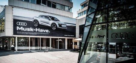 Este anuncio del Audi e-tron Sportback hace referencia a Elon Musk, y no es una idea brillante