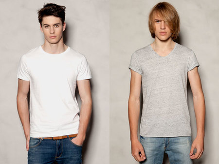 Camisetas básicas de Pull and Bear