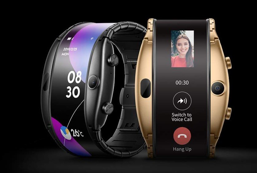Nubia Alpha: the new smartwatch folding with futuristic design, gold version and with the option of apud esim