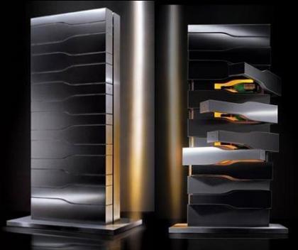 Bodega diseñada por Porsche Design para Veuve Clicquot