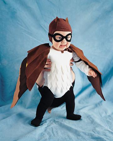 Disfraz casero de búho para bebés
