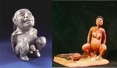 Partos verticales en el arte precolombino