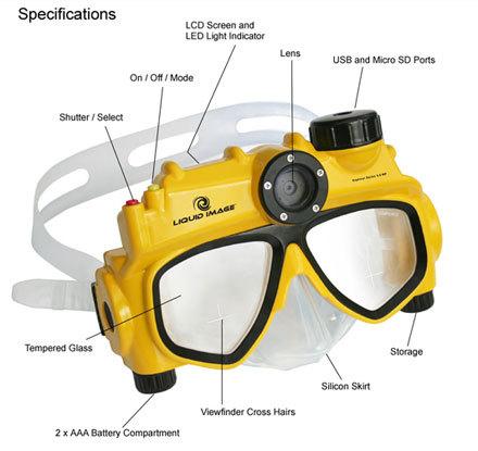 Gafas de buceo con cámara integrada [CES 2008]