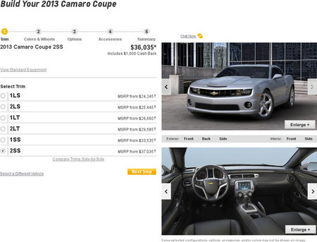 Configurador Chevrolet Camaro SS