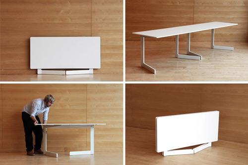 Ola mesa plegable minimalista for Diseno de mesas plegables