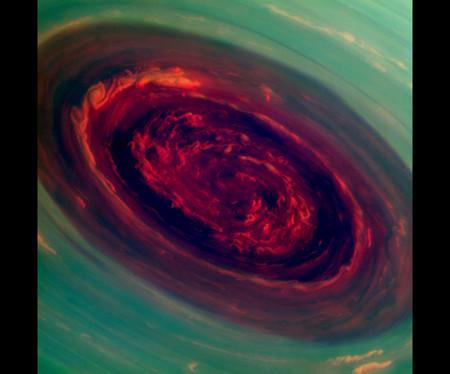 Cassini Saturn Redpolestorm Jpg Crop Original Original
