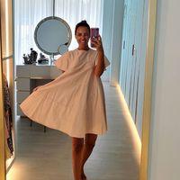 Paula Echevarría tiene el vestido más cómodo y estiloso de Dolores Promesas y está en rebajas