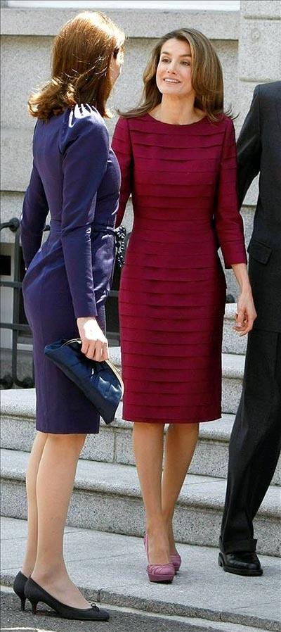 Carla Bruni y princesa Letizia