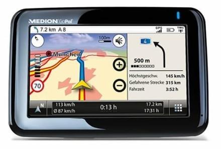 Navegador GPS Medion con lector de huellas