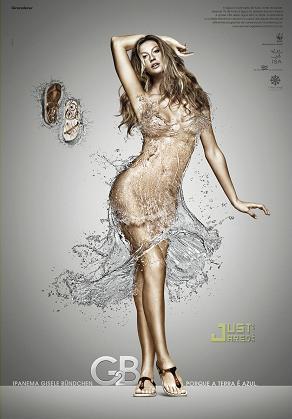 El vestido de agua de Gisele Bundchen