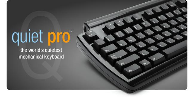 Quiet pro, un teclado mecánico prácticamente silencioso