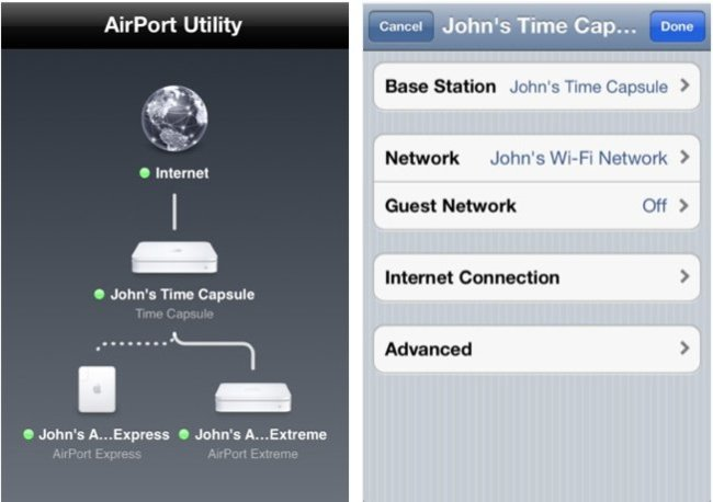 airport utility utilidad router apple ios 5