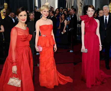 Vestidos rojos Oscar 2012