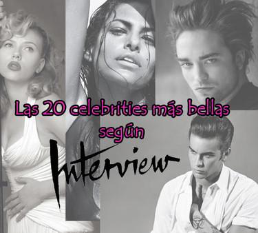 Las 20 celebrities más guapos de la década según Interview Magazine
