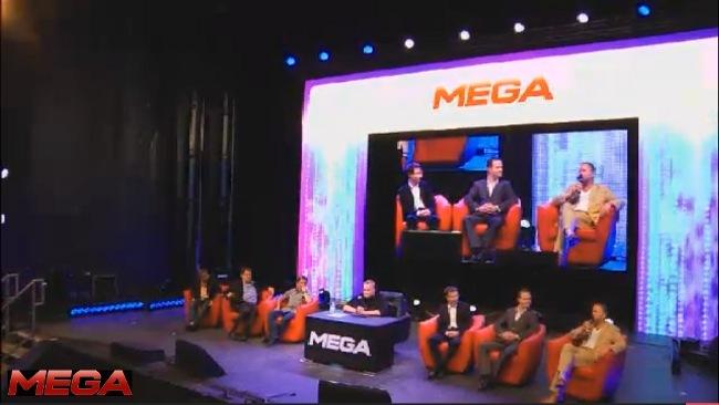 Rueda de prensa de MEGA